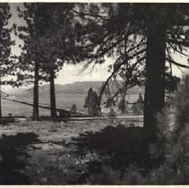 Image of UNRS-P1984-13-10 - [Lake Tahoe]. Photo by L. H. Bannister, photographer for Eastman Kodak Co., 1920s. Taken with an Eastman panoramic camera.