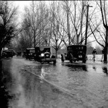 Image of UNRS-P1992-01-1947 - Negative only. Photograph of Truckee River Flood; downtown Reno; ca. 1920s