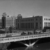 Image of UNRS-P1992-01-2337 - Photograph of Virginia Street Bridge, Reno, Nevada, ca. 1920s. Negative only.