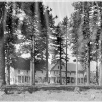 Image of UNRS-P1992-01-3294 - View of Tallac resort at Lake Tahoe; photographic print