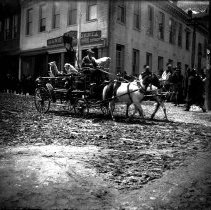 Image of UNRS-P1992-01-5892 - Photograph of circus parade (?) Virginia City (?)
