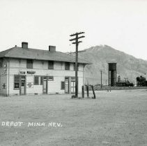 Image of UNRS-P1992-01-6883 - Depot, Mina, Nevada. Photo by Nevada Photo Service.