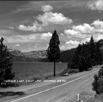 Image of UNRS-P1992-01-7494 - Photograph of the Lincoln Highway and Donner Lake. Photographic print