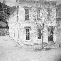 Image of UNRS-P1992-01-8718 - Photograph of Scenes in Va. C. Nevada. In the photograph album of E. L. Kinney, Virginia City, Nevada.