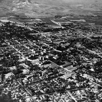 Image of UNRS-P1992-01-8869 - Aerial photograph of downtown Reno, circa 1938-1939.