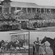 Image of UNRS-P1992-01-9041 - Photograph of Reno Races [horse racing], July 1st, 1931