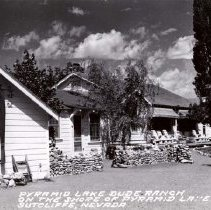 Image of UNRS-P1993-01-0918 - Photograph of Pyramid Lake Ranch; 1950s; postcards by Eastman Kodak; Pyramid Lake Dude Ranch on the shore of Pyramid Lake