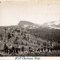 Image of UNRS-P1993-05-2027 - Photograph of Kit Carson Trip. 1936. [In album: Camp Chonokis, 1932-37]