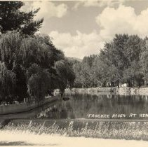 Image of UNRS-P1992-03-1110 - Photograph of Truckee River at Reno Nev. [ca. 1940]