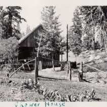 Image of UNRS-P1993-05-0700 - Photograph of Shower House. 1932. [In album: Camp Chonokis, 1932-37]