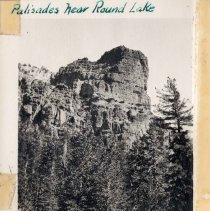Image of UNRS-P1993-05-1062 - Photograph of Palisades Near Round Lake. 1935. [In album: Camp Chonokis, 1932-37]