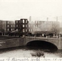 Image of UNRS-P2006-05-024 - Photograph of Ruins of Riverside Hotel, March 15, 1922. Reno, Nevada. Photo by Cann.