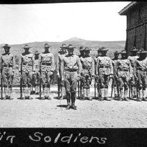 Image of UNRA-P482-048 - Cadet Corps formation; album caption: Tin Soldiers (circa 1911).
