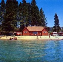 Image of UNRS-P2007-04-03 - Incline Beach Trailer Park. Crystal Bay, Lake Tahoe, Nevada. Published by Colourpicture.