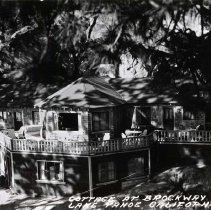 Image of UNRS-P2007-04-12 - Cottage at Brockway Hotel. Lake Tahoe, California. June 12, 1946. Photo by Frasher's.