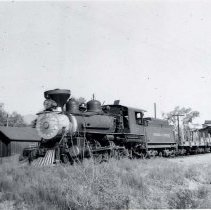 Image of UNRS-P1987-23-3686 - Photograph of Virginia and Truckee Railroad. In the yard at Reno.