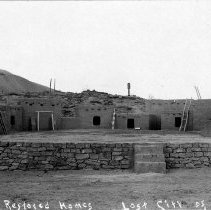 Image of UNRS-P2005-02-210 - Restored homes. Lost City of Nevada.