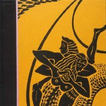 Image of UNRA-P3357-001 - Photograph Collection: Library, Special Collections Dept. Book Arts: yellow and black design