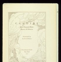 """Image of UNRA-P3357-015 - Library, Special Collections Dept. Book Arts: Illustration for """"Candide"""" by Rockwell Kent, 1929 edition."""