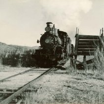Image of UNRS-P1985-08-00023 - Photograph of Washoe Valley  - V & T [Virginia and Truckee Railroad] (neg. 4x5) Folder 144.