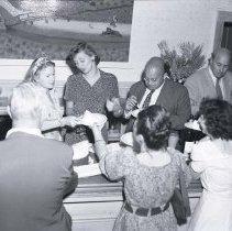 Image of UNRS-P1985-08-03644 - Wedding: Joe Liebling; Virginia City; Sept. 1949 (neg. 4x5)