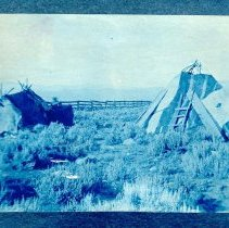 Image of UNRS-P2000-06-0171 - [Indian dwellings on Caughlin Ranch?]