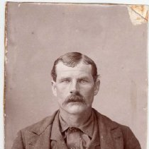 Image of UNRS-P2000-06-0384 - Jack Davis.  Wanted in Idaho for murder.  1896.  [See also #394] [From photo album of Sheriff William Caughlin]