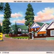 Image of UNRS-P2007-04-29 - The Monte Carlo of Lake Tahoe. Cal-Vada Lodge, Crystal Bay, Nevada. Published by Curteich.