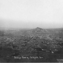 Image of UNRS-P2007-06-01 - Views of Goldfield, Nevada [album, 1905]. Bird's-eye View of Goldfield, Nevada. Photo by Titsworth Photo [Laura Titsworth], 22