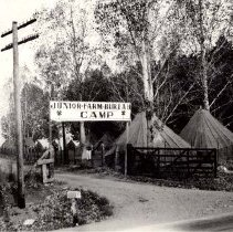 Image of UNRA-P3375-01 - Photograph of entrance to the Junior Farm Bureau Camp, on South Virginia Street, Reno