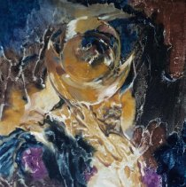 Image of UNRA-P3426-0277 - Abstract oil painting by Craig Sheppard (undated).