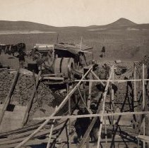 Image of UNRS-P2008-18-2484 - [W.P. Hardesty Report circa 1906]. Showing concrete mixes and forms in main Truckee Canal, Sta. 408, Div. 2. Truckee-Carson Project- Nev.