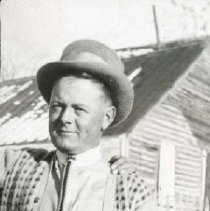 """Image of UNRA-P3476-162 - Unidentified man wearing a vest and hat outdoors during the filming of """"The Winning of Barbara Worth""""  in Humboldt County, Nevada. (Spring-summer, 1926)"""