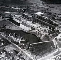Image of UNRA-P1447-1 - Aerial of campus, view from the southwest (circa 1925)