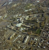Image of UNRA-P3127-00003 - Aerial photograph of the UNR campus viewed from the southwest.