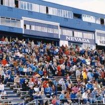 Image of UNRA-P3376-188 - Photograph of Homecoming 1984: spectators in Mackay stadium bleachers