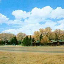 Image of UNRS-P1992-03-0714 - Postcard of Silver State Lodge. Caption on verso: Silver State Lodge. Reno, Nevada. 68 rooms on 6 acres. Beautifully landscaped. Quiet and private. Furnishing: Heated garages, kitchenettes, T.V., cafe adjoining. [ca. 1960]