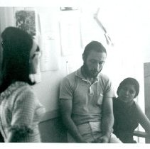 Image of UNRS-P1993-15-10 - NSF 1965 Field Training.  Anita Spring, Ranier Lang, Judy Shapiro