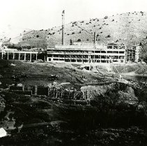 Image of UNRS-P2317-1 - Photograph of American Flat Mill under construction.