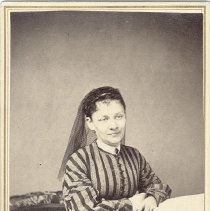 Image of UNRS-P1325- - Caption on image: Amy Stone. (Actress) Virginia, Nevada. May 1867. Photo by Sutterley Brothers Photographers