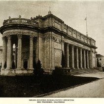Image of UNRS-P1989-09-129 - Letterpress Halftone print of the Nevada building at the Panama Pacific Exposition. Caption on image: Nevada Building-Panama Pacific Exposition, San Francisco, California.