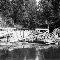 Image of UNRS-P2008-18-2133 - [B_W photos- Donner Lake circa 1928]. Donner Lake Dam. May 1, 1928.