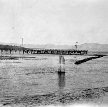 Image of UNRS-P2008-18-2164 - [B_W negatives and photos- Lake Tahoe Pumping Operations]. Photo taken by S. R. Marean August 7, 1929. Showing pumps installed by Truckee Meadows Water Users.