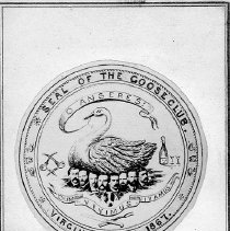 Image of UNRS-P0225-1 - Seal of the Goose Club. Virginia, Nevada. 1867. Photo by Sutterley Brothers.