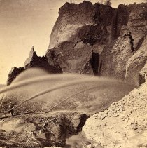 Image of UNRS-P1367-1 - Caption on image: Hydraulic mining--The Palm Claim, Timbuctoo, Nevada County, California