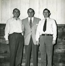 Image of UNRS-P2012-10-411 - Caption from enclosure: Wells Cargo Freight Company. Owners-Wells Brothers. L. to R. Howard, Joe, Bob