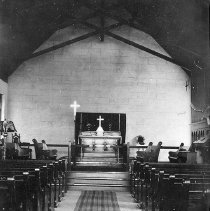 Image of UNRS-P2419-1 - Photograph of interior of St. Bartholomew's Episcopal Church in Ely, Nevada.