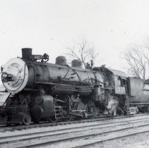 Image of UNRS-P1987-23-3342 - Southern Pacific. Engine 3237 on the Mina branch at Schurz. 12-8-49.