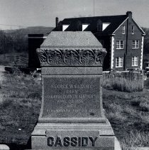 Image of UNRS-P1998-09-7 - Hillside Cemetery, Reno, Nevada, October 5, 1963. George W. Cassidy grave marker.