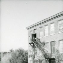 Image of UNRA-P1075-33 - South end of the Frandsen Humanities Building (1960s).